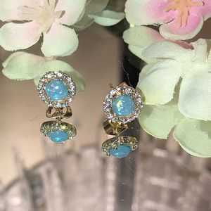 💙NEW💙 Blue Fire Opal Gold Plated Earrings